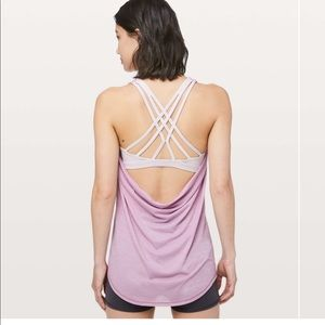 New LULULEMON Slay the Studio Bra Tank Purple 8